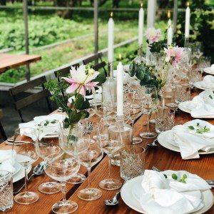 Festligt bord, festlokale Roskilde