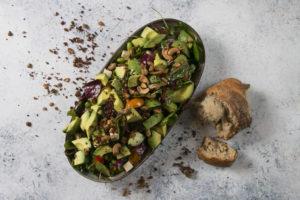 Avokado Brunch salat, Vegetar. Café Freunde i Roskilde