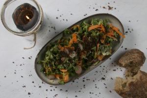 Feldsalat med gulerødder, Café Roskilde