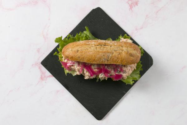Sandwich med laksemousse Café Freunde Trekroner
