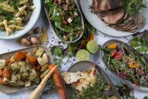 Stor samlet menu, café Freunde i Roskilde