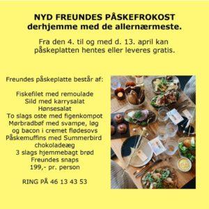 Freundes Påskefrokost. Café i Roskilde