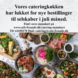 Catering menu til selvskaber i Juli måned